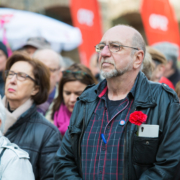Mehrere Mitglieder der SPD-Hattingen auf einer 1.Mai-Kundgebung