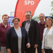 Gruppenbild nach der Wahl des neuen Vorstands der SPD Hattingen 2018
