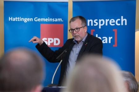 Manfred Lehmann auf der Jahreshauptversammlung der SPD Hattingen 2018